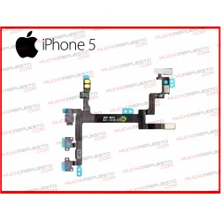 CABLE FLEX POWER ON/OFF+VOLUMEN+MUTE+FLASH IPHONE 5