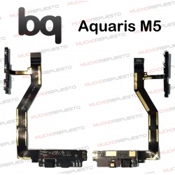CABLE FLEX CONECTOR USB + MICROFONO + BOTONES Vol+Power BQ Aquaris M5