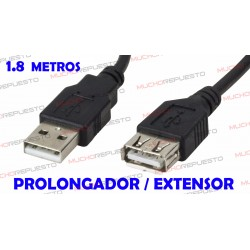 CABLE USB PROLONGADOR / EXTENSOR 1.8 metros
