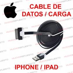 CABLE USB DE DATOS Y CARGA IPHONE 4 / 4S / IPAD 2 NEGRO 1metro