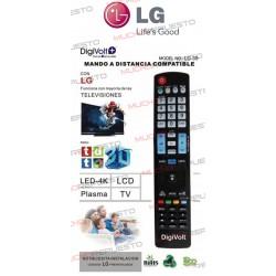MANDO A DISTANCIA TV PARA LG (COPIA EXACTA AL ORIGINAL) (Modelo 2)