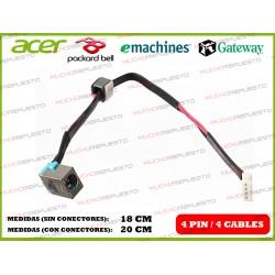 CONECTOR ALIMENTACION PACKARD BELL Tv11CM / Tv11HC / Tv43CM / Tv43HC