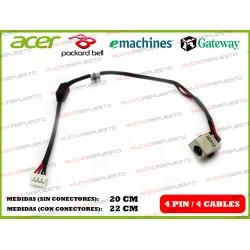 CONECTOR ALIMENTACION PACKARD BELL TE69BM Z5WT3 / GATEWAY NV510P