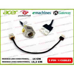 CONECTOR ALIMENTACION PACKARD BELL NM85 / TX86 / GATEWAY ID59 / ID59C