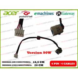CONECTOR ALIMENTACION PACKARD BELL TM01 / TM80 / TM85 / TM86 / TM89