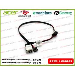 CONECTOR ALIMENTACION PACKARD BELL DOT S.FR-030 / S.FR-032