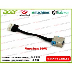 CONECTOR ALIMENTACION GATEWAY NV47 / NV48 / NV49 (90W)