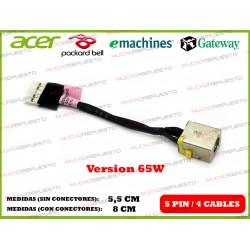 CONECTOR ALIMENTACION GATEWAY NV47 / NV48 / NV49 (65W)