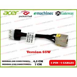 CONECTOR ALIMENTACION GATEWAY NV79C / NV73A / MS2290 / MS2291 (65W)