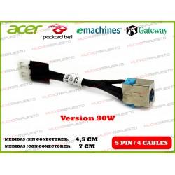 CONECTOR ALIMENTACION GATEWAY NV79C / NV73A / MS2290 / MS2291 (90W)