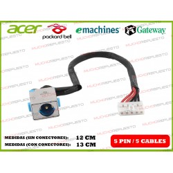 CONECTOR ALIMENTACION PACKARD BELL NM85 / NM86 / NM87