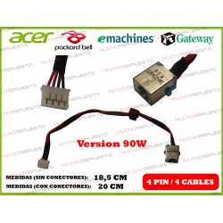 CONECTOR ALIMENTACION PACKARD BELL NEW70 / NEW75 / NEW90 / NEW91 / NEW95