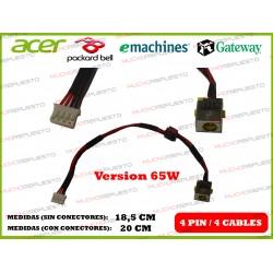CONECTOR ALIMENTACION GATEWAY NV53 / NV53A / NV55 / NV55C / NC55S