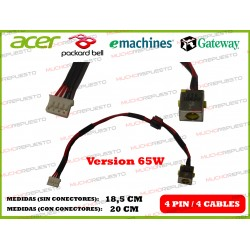 CONECTOR ALIMENTACION PACKARD BELL NEW70 / NEW75 / NEW90 / NEW95