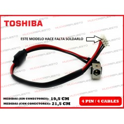 CONECTOR ALIMENTACION TOSHIBA Satellite A500 / A500D / A505 / A505D