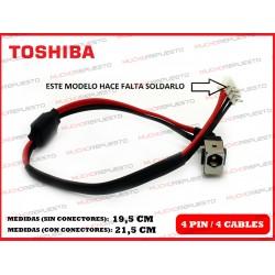 CONECTOR ALIMENTACION TOSHIBA Satellite L455 / L455D / L555 / L555D