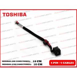 CONECTOR ALIMENTACION TOSHIBA Satellite C660 / C660D / C665 / C665D