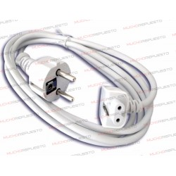 CABLE ALIMENTACION PROLONGADOR / EXTENSOR CARGADORES APPLE / MAC