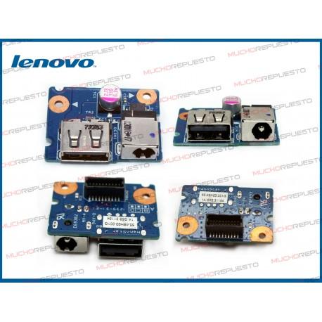 CONECTOR ALIMENTACION LENOVO G480 / G485 (placa PCB+USB)