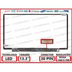 """PANTALLA 13.3"""" LED (1366x768) SLIM CONECTOR BAJO DERECHA 30PIN"""