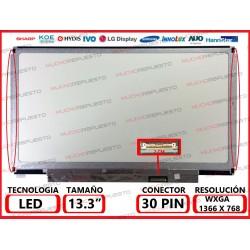 "PANTALLA 13.3"" LED (1366x768) SLIM 4/6 PUNTOS ANCLAJE BRACKET COMPLETO 30PIN"