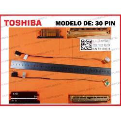 CABLE LCD TOSHIBA C55-C/C55D-C/C55T-C/L50-C/L50D-C/P55T-C/S55-C (30PIN)