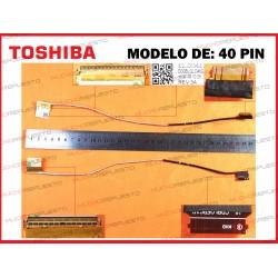 CABLE LCD TOSHIBA C55-C/C55D-C/C55T-C/L50-C/L50D-C/P55T-C/S55-C (40PIN)