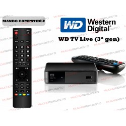 MANDO A DISTANCIA REPRODUCTOR WESTERN DIGITAL WD TV Live (3ª Gen)