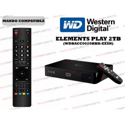 MANDO A DISTANCIA REPRODUCTOR WESTERN DIGITAL Elements Play 2TB