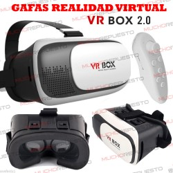 GAFAS REALIDAD VIRTUAL 3D VRBOX 2.0 + MANDO BLUETOOTH