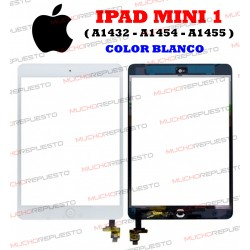 "PANTALLA TACTIL TABLET+CONECTOR+HOME IPAD MINI 1 7"" (A1432, A1454, A1455) BLANCA"