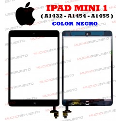 "PANTALLA TACTIL TABLET+CONECTOR+HOME IPAD MINI 1 7"" (A1432, A1454, A1455) NEGRA"