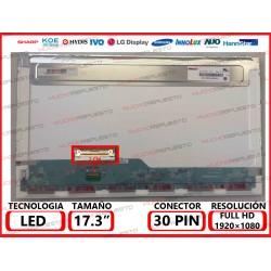 "PANTALLA 17.3"" LED (1920x1080) CONECTOR BAJO IZQUIERDA 30PIN"