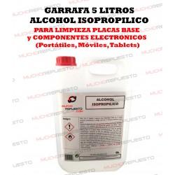 GARRAFA ALCOHOL ISOPROPILICO 5 LITROS (LIMPIEZA COMPONENTES ELECTRONICOS)