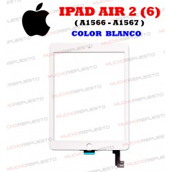 PANTALLA CRISTAL+TACTIL TABLET IPAD AIR 2 (A1566, A1567) BLANCA
