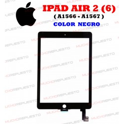 PANTALLA CRISTAL+TACTIL TABLET IPAD AIR 2 (A1566, A1567) NEGRA
