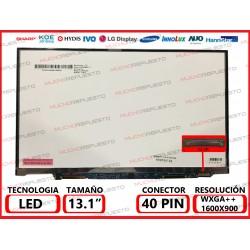 """PANTALLA 13.3"""" LED (1600x900) SLIM CONECTOR LATERAL BAJO DERECHA 40PIN"""