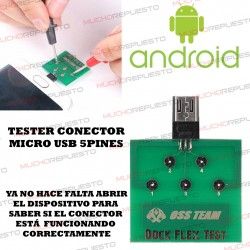 PLACA TESTEO MICROUSB 5 PINES (ANDROID)