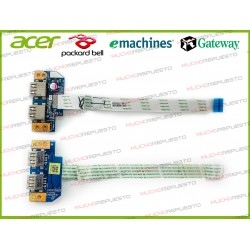 PLACA 2 USB + CABLE ACER Aspire E5-511 /E5-521 /E5-531 /E5-571 /V3-572