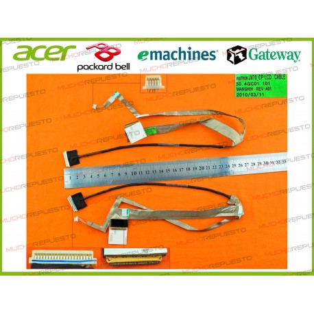 CABLE LCD ACER Aspire 7540 / 7540G / 7736 / 7736G / 7740 / 7740G