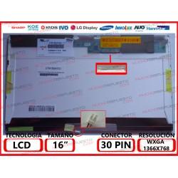 """PANTALLA 16"""" LCD (1366x768)..."""