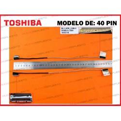 CABLE LCD TOSHIBA Satellite S50 /S50-B /S50T-B / S55-B /S55T-B (40PIN)