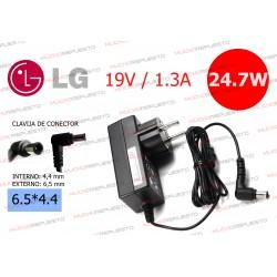 CARGADOR MONITOR LG 19V 1.3A EAY62768621 / ADS-40FSG-19 / ADS-18FSG-19 / 19016GPCU