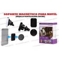 SOPORTE MAGNETICO MOVIL ENGANCHE REJILLA AIRE ACONDICIONADO COCHE (1)