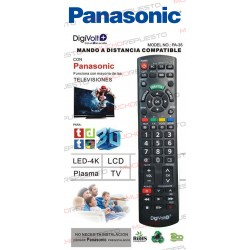 MANDO A DISTANCIA TV PARA PANASONIC (COPIA EXACTA AL ORIGINAL)