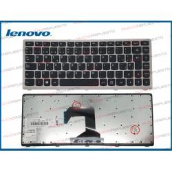 TECLADO LENOVO S300 /S300A /S400 /S400i /S400T /S400U /S405 (Marco Plata)