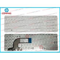 TECLADO HP 255 G3 / 255-G3 (Con Marco) BLANCO