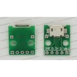 PLACA CONECTOR MICRO USB 5V A DIP ADAPTADOR