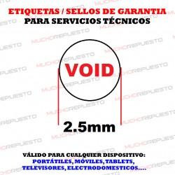 ETIQUETAS / SELLOS GARANTIA DESTRUCTIBLES TORNILLOS MOVILES (1080 Unidades)