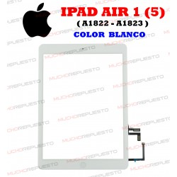 PANTALLA CRISTAL+TACTIL+HOME TABLET IPAD AIR 1 (A1822 / A1823) BLANCA